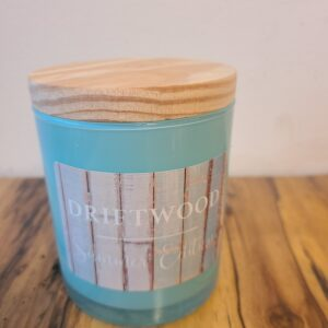 10 oz all natural soy candle amber & driftwood